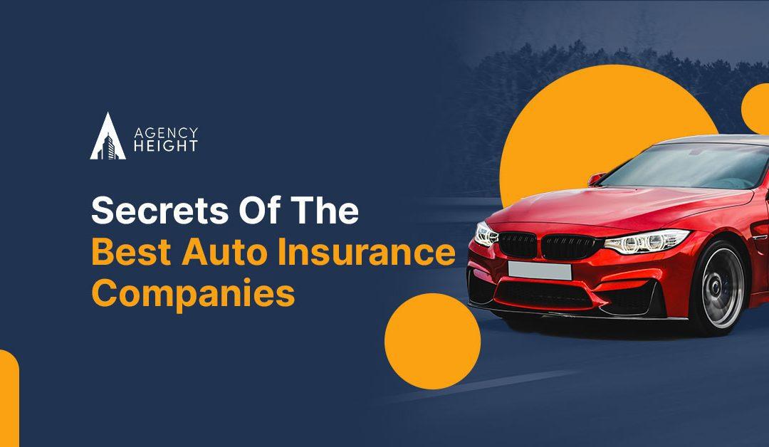 Secrets Of The Best Auto Insurance Companies
